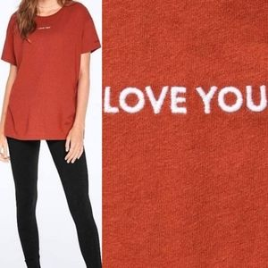 "3/$30 VS PINK Women's ""Love You"" Girlfriend Tee XS"